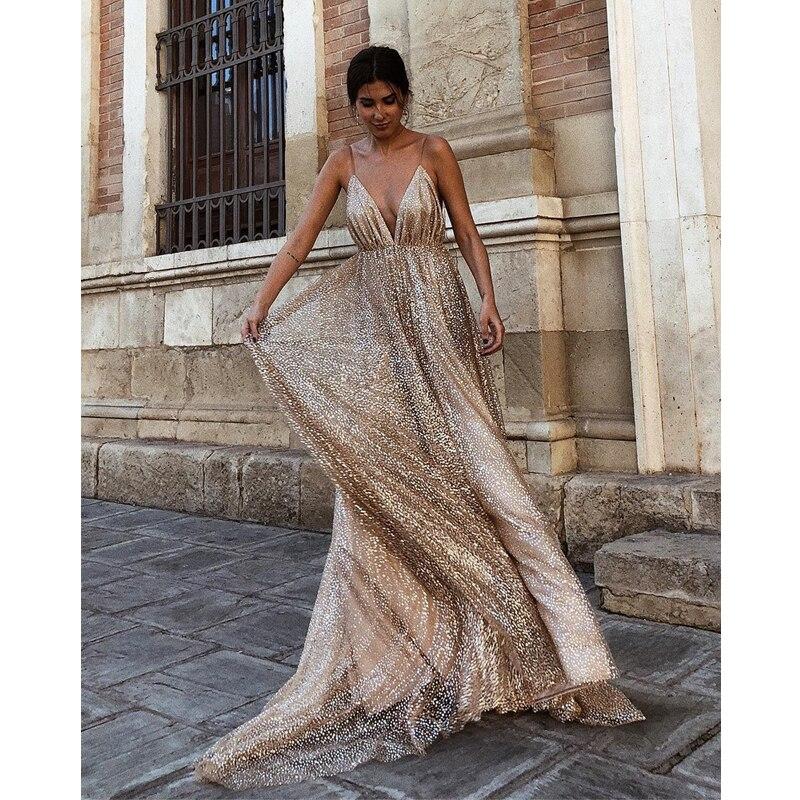Prom Pour Champagne Élégante Style Vente 2018 Party Célébrité Cocktail Mariage Fille Pageant Longue Gaine Chaude Mode Courroie De Robe wUxR86