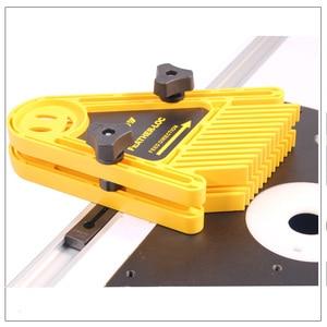 Image 2 - Многоцелевой набор досок Loc для перьев, двойные перьевые пластины, калибровочный слот, деревообрабатывающий гравировальный инструмент для циркулярных пил