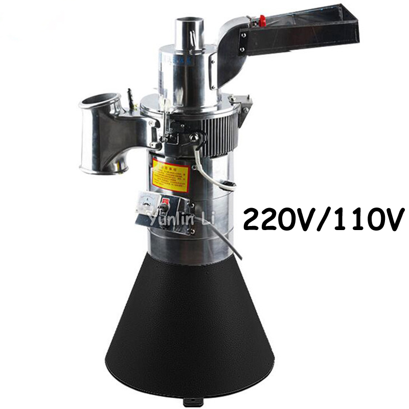 Automatic Medicine Pulverizer Herb Grinding Machine Coarse Cereal Flour Mill Grinding Miller Grinder DF-25 factory direct price 1000g swing stainless steel herb grinder food powder grinding machine spice mill electric flour milling