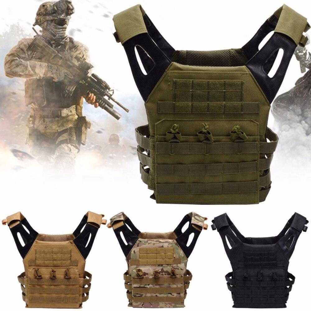 Combat Camouflage Tactique multi-poches Gilet Plat Transporteur Gilet 600D Airsoft Paintball Pour Hommes En Plein Air Chasse