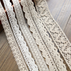 Image 4 - 2 6CM 5 yards Beige lace high qualit  lace cotton lace sewing Home Furnishing garment accessories DIY material
