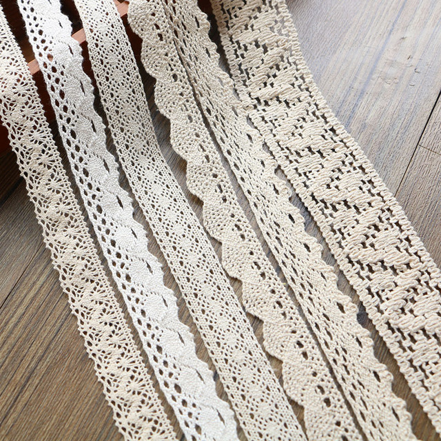 2-6CM 5 yards Beige lace high qualit  lace cotton lace sewing Home Furnishing garment accessories DIY material