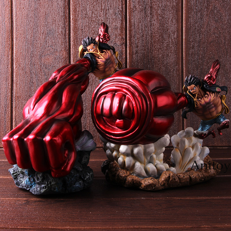 <font><b>One</b></font> <font><b>Piece</b></font> Gear 4 <font><b>Luffy</b></font> Action Figure Monkey D <font><b>Luffy</b></font> Gear Four PVC Collectible Model Toy image