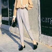 Women's Top Quality Casual Cotton Linen Harem Pants 2019 New Arrival Elegant Ladies Office Work Pants Plus Size Trousers