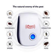 Ultradźwiękowy elektroniczny szkodnik odstraszacz Mosquito mysz rat wielofunkcyjny gryzoni owady odstraszający mini owadów Killer Rode US EU plug tanie tanio Ultradźwiękowe Odstraszacze szkodników Myszy pnie pluskwy ćmy pająki muchy mrówek karaluchy komary 110V Biały