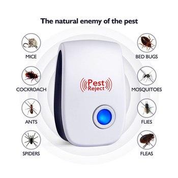 Ультразвуковой электронный вредителями отпугиватель комаров Мышь Rat Многофункциональный грызунов насекомых Мини насекомых ехал США ЕС Plug