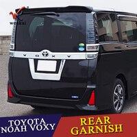Для Toyota Noah Voxy 2014 2015 2016 17 2018 Chrome Интимные аксессуары автомобиль Стайлинг Наружный сзади лицензии Метки Рамки обложка 1 шт.