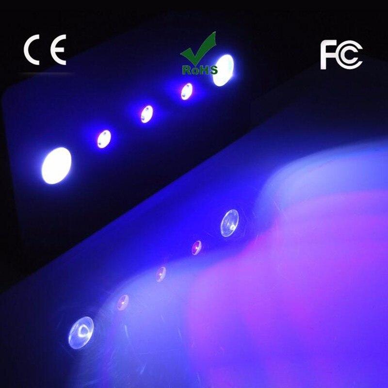 3 шт./лот WI-FI 169 Вт свет аквариума затемнения COB + линзы полный спектр освещения для коралловый риф Рыба Морской Tank лунный свет лампы
