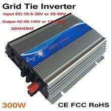 300W  MPPT grid tie inverter,10.5-30V/ 20-50VDC to AC 110V/220V pure sine wave output solar wind power inverter