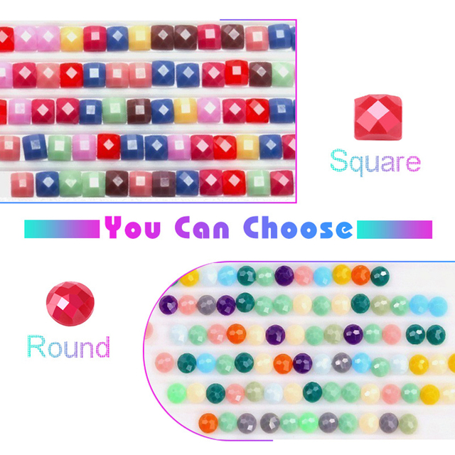 Cat Full Square round Stones Cartoon 5d Diamond Painting Diamond Embroidery Rhinestone Picture Diamond Mosaic Dimond