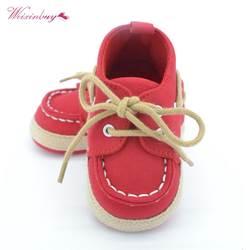 WEIXINBUY/синие кроссовки для маленьких мальчиков и девочек с мягкой подошвой, обувь для кроватки, размеры для новорожденных до 18 месяцев