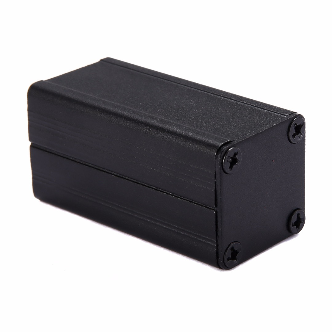 1pc New Extruded Aluminum Enclosure Case Black DIY Electronic Project Box Power Supply Units 50x25x25mm 1pc sand blasting oxidation black aluminum case diy project electronic line protection box 10 x 9 7 x 4cm promotion