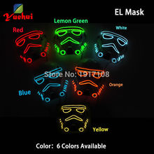 10 STYLE Star Wars EL wire Flashing fashion Mask Neon LED Thread Rope Mask gift battery Powered Party mask For Halloween Props