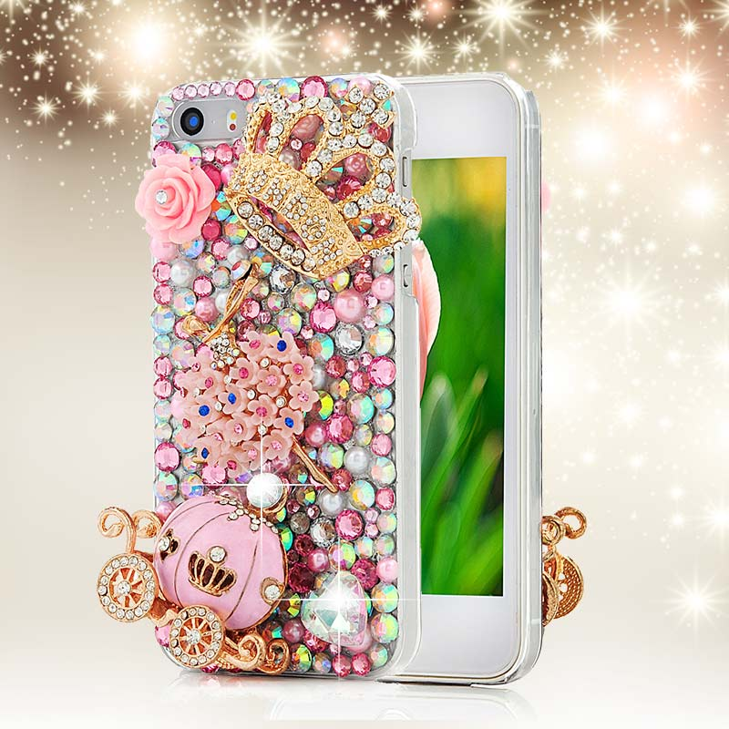 Handmade Diamond Crystal Rhinestone Phone Cover Case For Iphone 4 4s 5 5s 5c 6