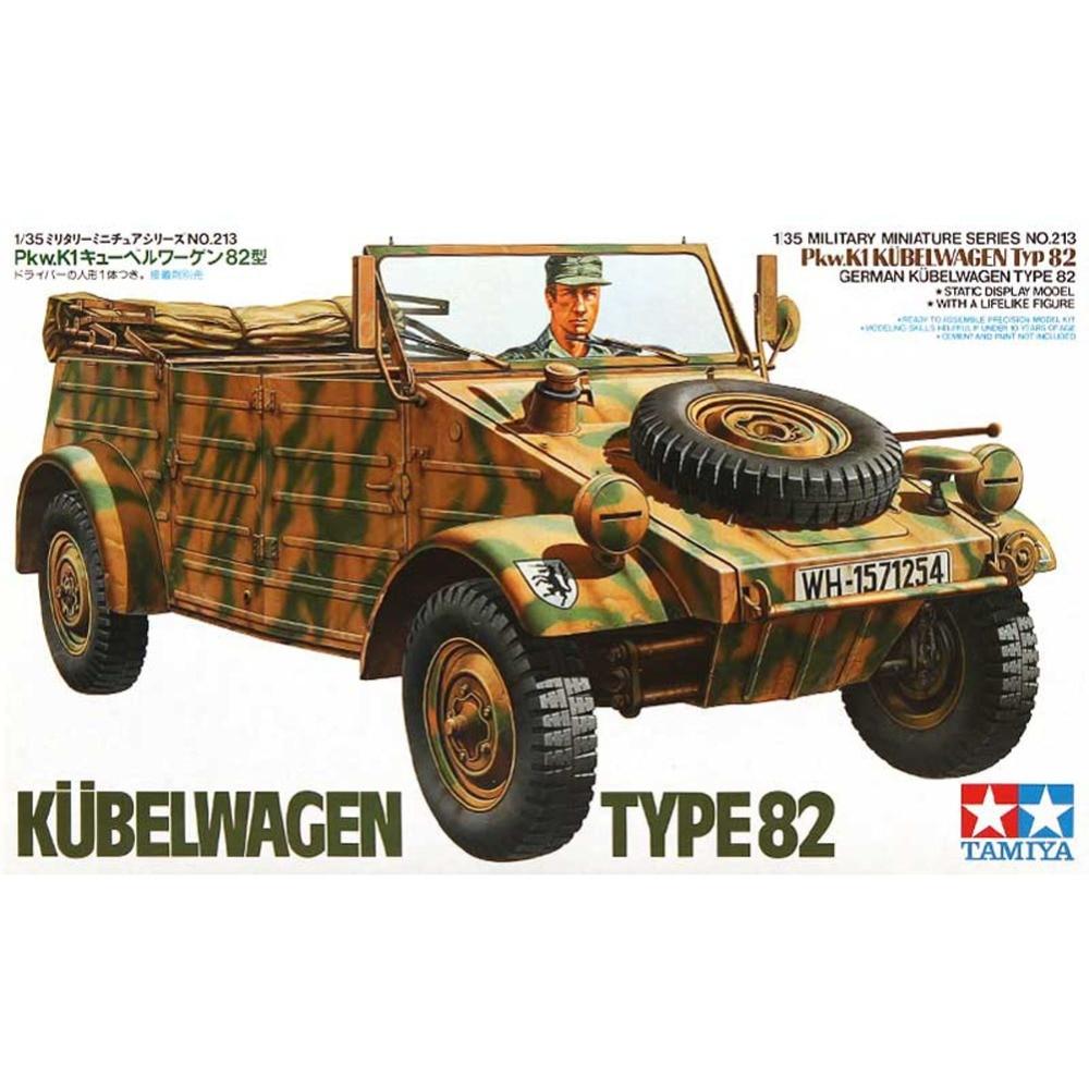 OHS Tamiya 35213 1/35 German Pkw K1 Kubelwagen Type 82 Military Assembly AFV Model Building Kits G