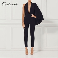 (Out Of Stock)Ocstrade New 2017 Jumpsuits Ladies Fashion Jumpsuit Bodycon Party Sexy Black Jumpsuits for Women