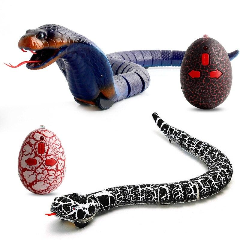 Remote Control Snake Rattlesnake Animal Trick Terrifying Mischief Toy Black