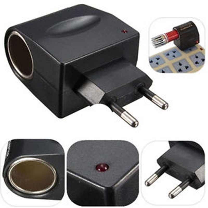 Converter Car-Cigarette-Lighter-Adapter Remote-Charger Eu-Plug 220V Car-Transmitter To