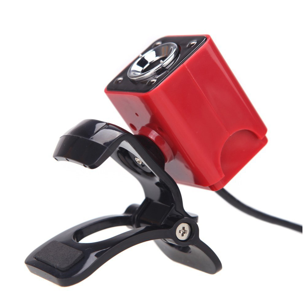 MOOL USB 2.0 12 Megapixel HD Camera Web Cam with MIC Clip-on Night Vision 360 Degree for Desktop Skype Computer PC Laptop Red a860 computer camera usb 360° rotatable pc webcam with built in mic