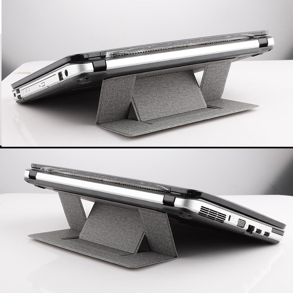 Portable Laptop Bracket Riser Invisible Adhesive Stand Folding Adjustable Vented Tablet Holder