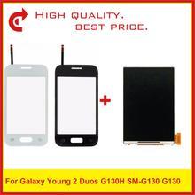 """عالية الجودة 3.5 """"لسامسونج غالاكسي DUOS يونغ 2 Duos G130H G130 شاشة الكريستال السائل مع محول الأرقام بشاشة تعمل بلمس لوح مستشعر"""