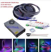 5 м 720led WS2812B 5 В 5050 RGB индивидуально адресуемых + t1000s контроллер + питание
