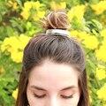 Оригинальный дизайн  полированный сплав  Круглый топ  манжета для волос  клетка для волос  минималистичный держатель для пучков  клетка для ...