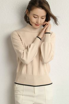 winter women sweater with long sleeves high elastic knitting sweater vests for women sweater  women sweater turtleneck autumn th