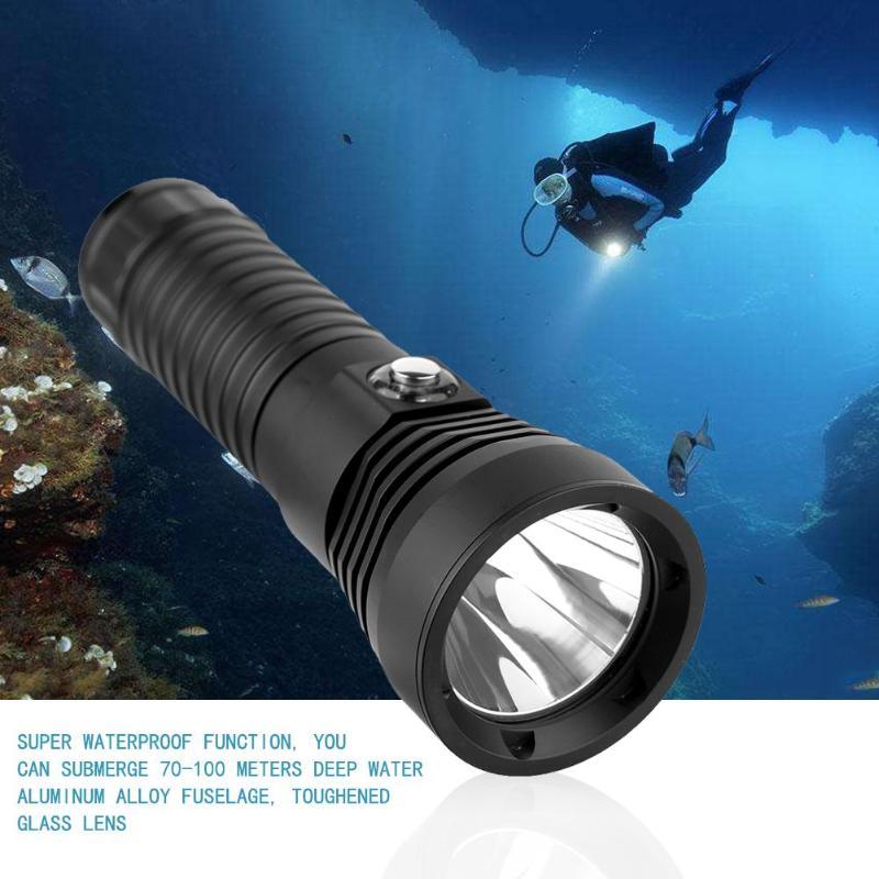 XML L2 LED 1000LM Diving Flashlight 2 Modes 70-100M Underwater Torch Scuba Dive Light Waterproof For Adventure Fishing sitemap 70 xml
