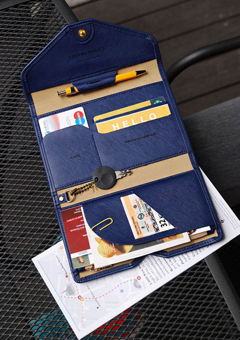 Travel Passport Cover Foldable Credit Card Holder Money Wallet ID Multifunction Documents Flight Bit License Purse Bag PC0045 (2)