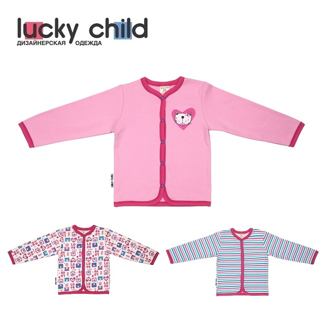 Кофточка Lucky Child для девочек, варианты расцветок (Любовь) [сделано в России, доставка от 2-х дней]