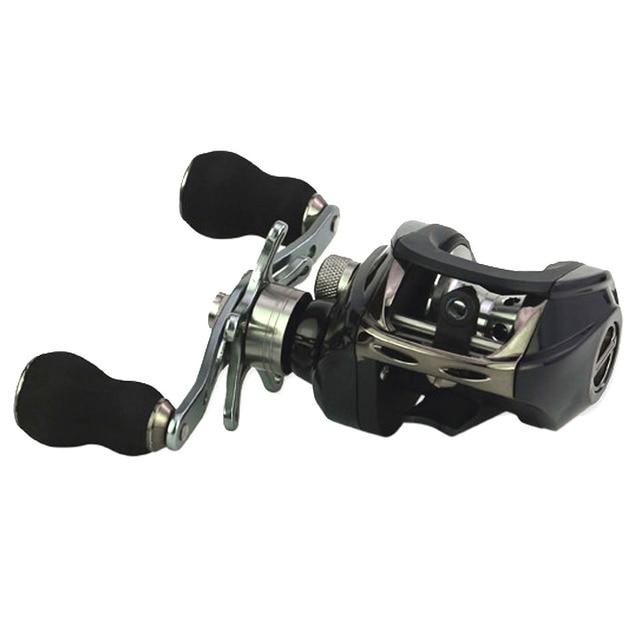 High Speed Casting Fishing Reel 17 +1 BBs Waterproof Baitcasting Fishing Reel with Dual Brake Magnetic Brake System 8KG Max Drag