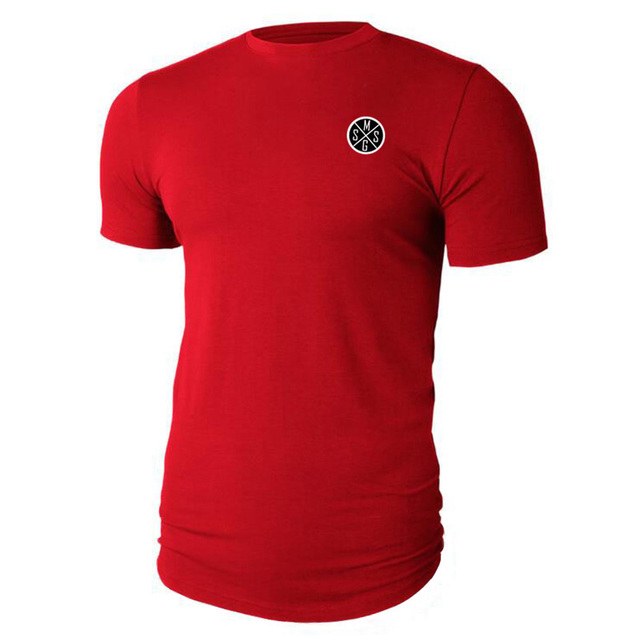 Muscle guys Fashion Men Clothes Short Sleeve shirt Slim Fit TShirt Men Cotton T-Shirt Casual Sporting Fitness t-shirt