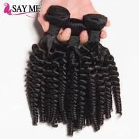 Afro Kinky Curly Hair 1/3/4 Bundles Natural Color 8 22inch Brazilian Hair Weave Bundles Remy Human Hair Bundles Free Shipping