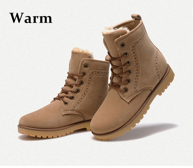 af16d7bbe09 Free shipping 2015 fashion winter shoes women's winter suede boots for men  ladies snow boot botines mujer chaussure femme