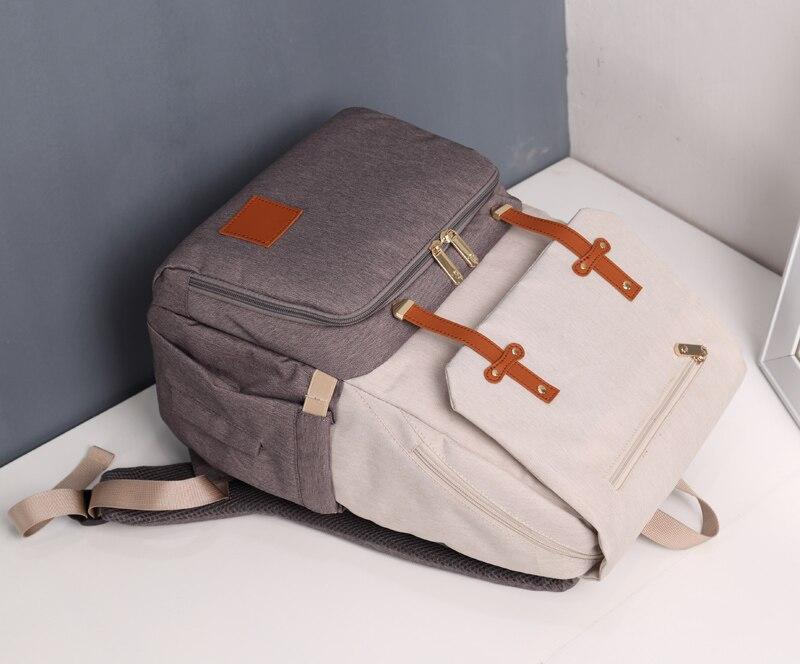 HTB1YfMIaJfvK1RjSspoq6zfNpXaj Diaper Bag Mummy Daddy Backpack Baby Stroller Bag Waterproof Oxford Handbag Nursing Nappy Kits Maternity Bag USB Warmer Holder