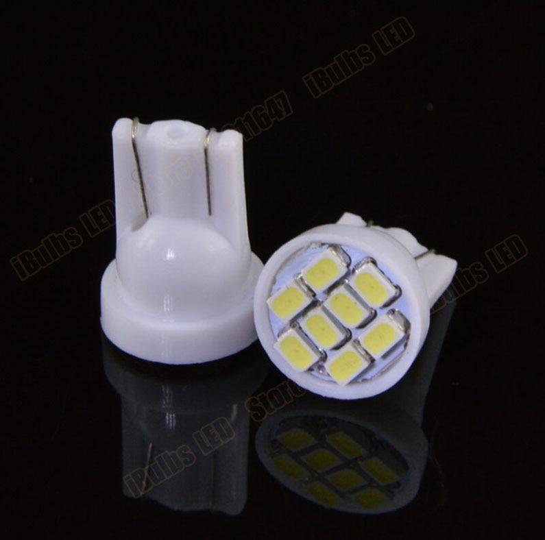 500Pcs Super Bright Wholesale T10 3020 W5W 1206 8 Smd Led Auto Car lighting 8LED 8SMD