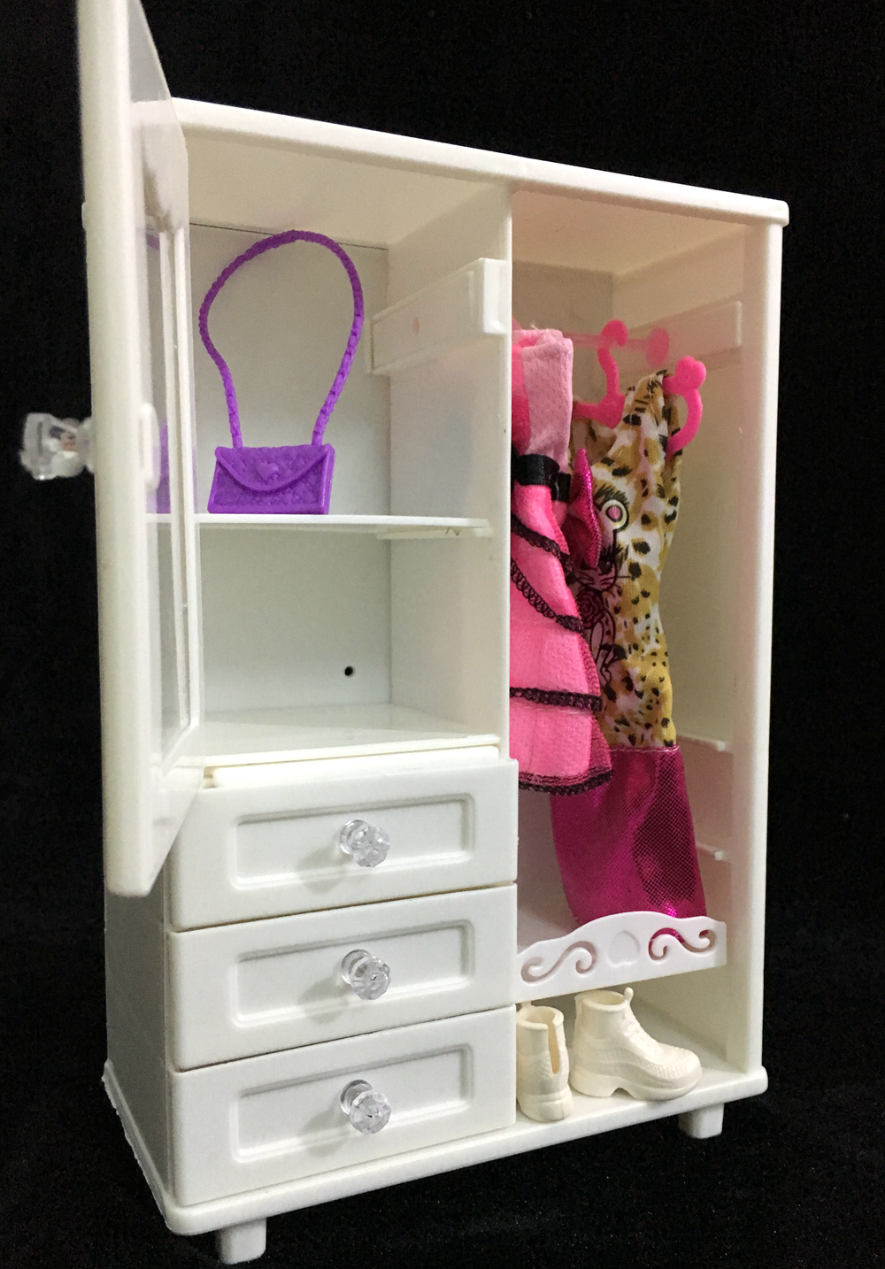 NK One Set Doll Accessories White Wardrobe Closet For Barbie Doll Princess Dreamhouse  Furniture Miniature Best Gift For Child In Dolls Accessories From Toys ...