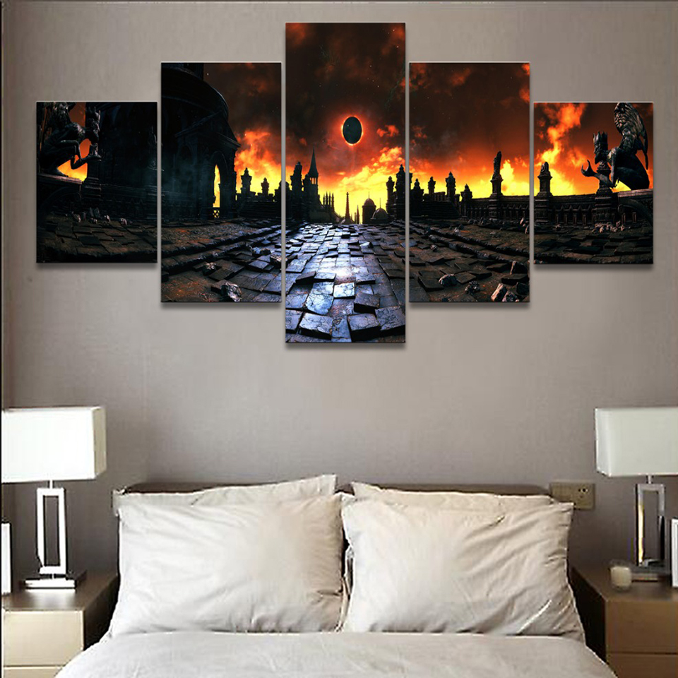 Canvas Painting Living Room Wall 5 Pieces Pcs Game