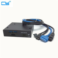 High Quality USB 3.0 2 Port Firewire 1394B 1394 Power eSATA Front Panel 3 5 Floppy Bay Free Shipping tracking number