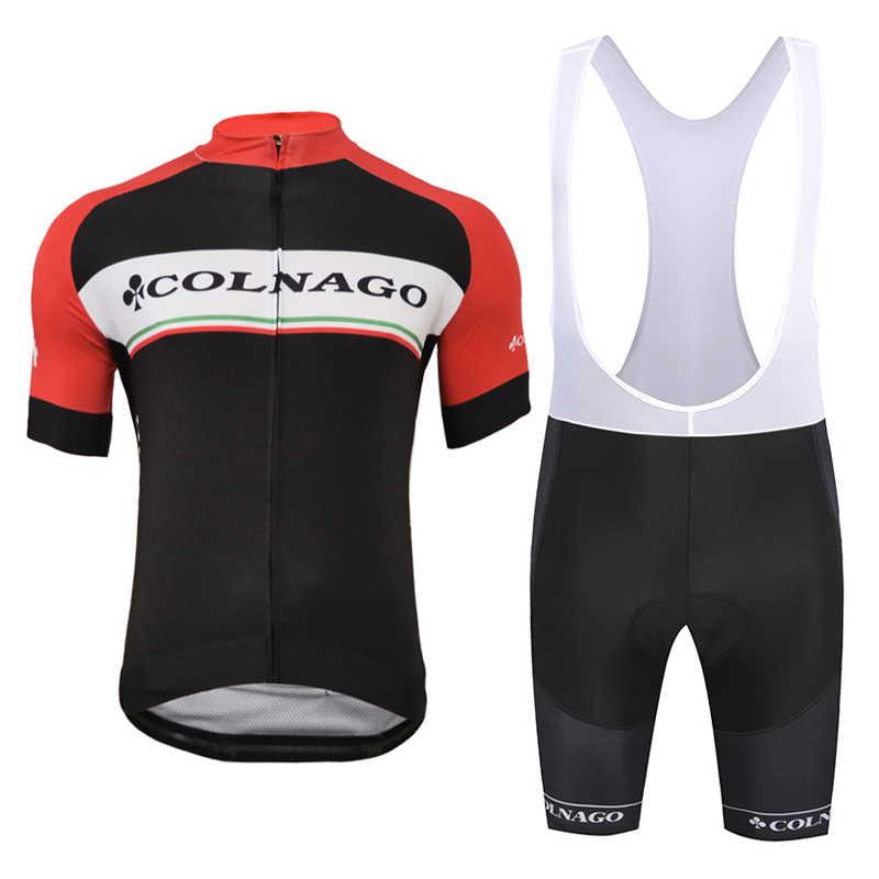 5fb854dbf New Colnago Mens Comfortable Short Sleeve Cycling Jersey Bib Shorts MTB Bicycle  Clothes Strap Maillot Ropa
