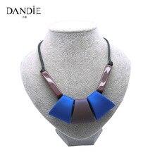 Dandie New Design Blue Trapezoid Rubber Handmade Choker Necklace