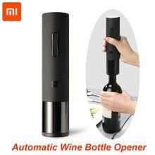 100% Xiaomi Huohou otomatik kırmızı şarap şişe açacağı elektrikli tirbuşon folyo kesici Cork Out aracı Xiaomi akıllı ev kitleri için