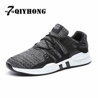 QIYHONG Men Shoes New Arrival Fashion Mesh Breathable Spring Autumn Casual Shoes For Men Laces Plus