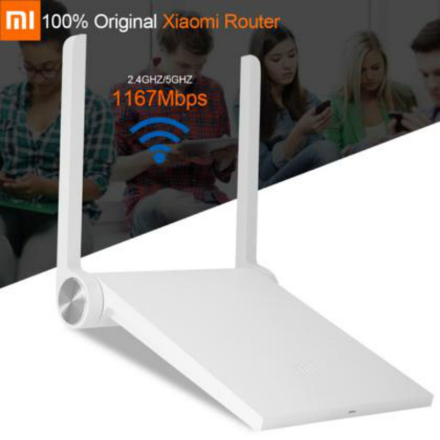 Originais xiaomi mi wi-fi mini-roteador protable sem fio wifi wi fi router dual band 1167 mbps repetidor para iphone ios android