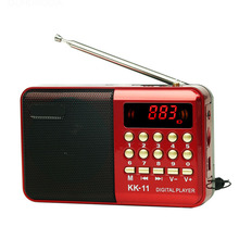 Mini Portable Radio Handheld Digital FM USB TF MP3 Player Speaker Rechargeable