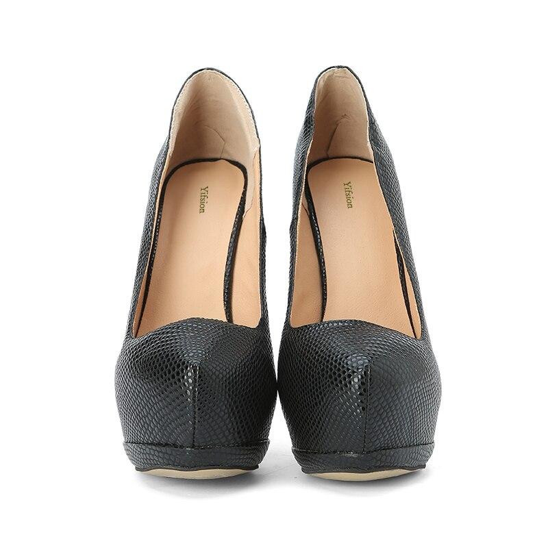 2019 D0827 Nosotros Las 5 Nuevas Yifsion Stiletto Encanto Tamaño Puntiagudo Pie Bombas Plataforma Mujeres De Black Zapatos Altos Tacones Sexy Dedo Del Negro 15 pwCxBq