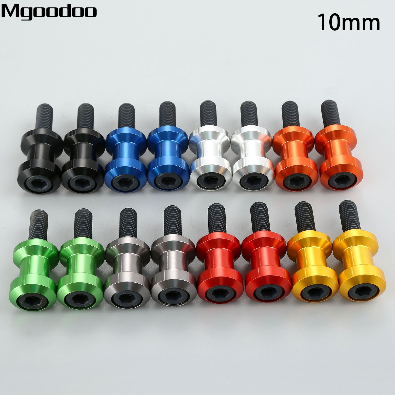 Mgoodoo CNC Aluminium 10mm Motorcycle Swingarm Spools Sliders For Yamaha YZF750/1000 FZR400/600/1000 KTM 690 990 Duke 1190 RC8 15pcs set hss co 1 5 10mm high speed steel m35 cobalt twist drill bit wood metal working drilling power tools set mayitr