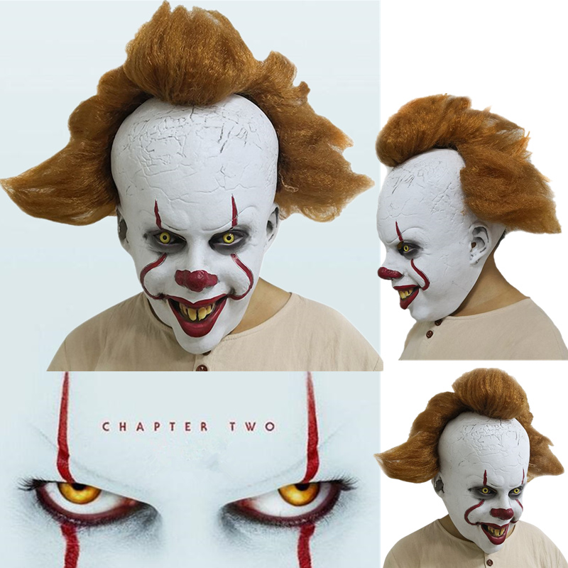 2019 Halloween Stephen King's It: Chapter Two Pennywise Clown Cosplay Mask Props Latex Full Face