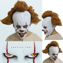 2019 Halloween Stephen King's It: Chapter Two Pennywise Clown Cosplay Mask Props Latex Full Face цена и фото